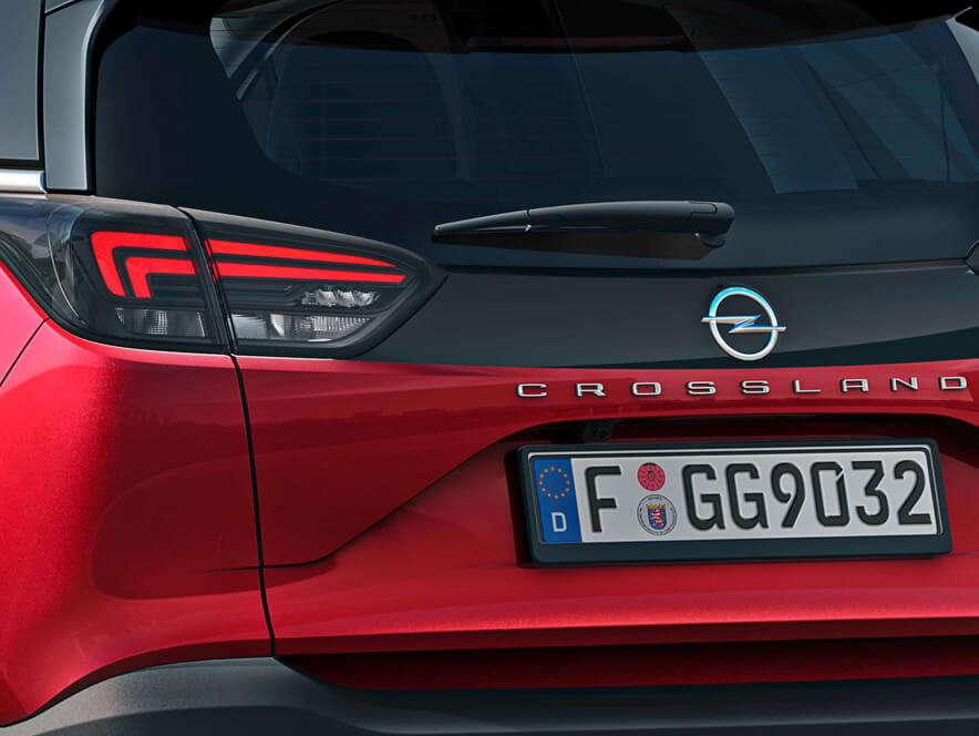 Opel Crossland, задня частина