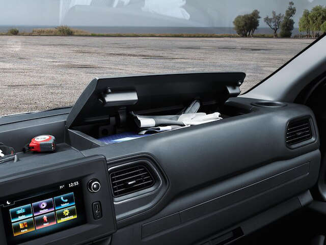 Opel, Movano, універсальність, салон, ніша для речей з кришкою